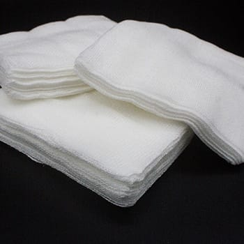 Gauze pads to stop bleeding of soft tissue injury