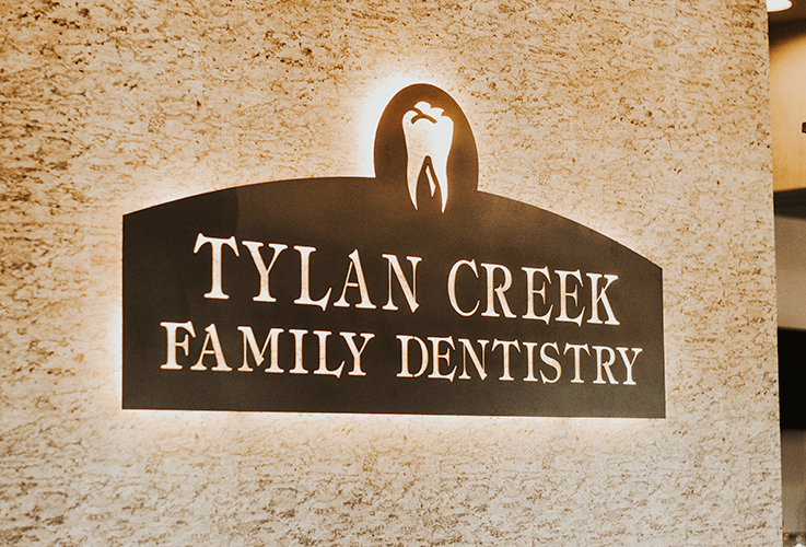 Lighted Tylan Creek Family Dentistry sign