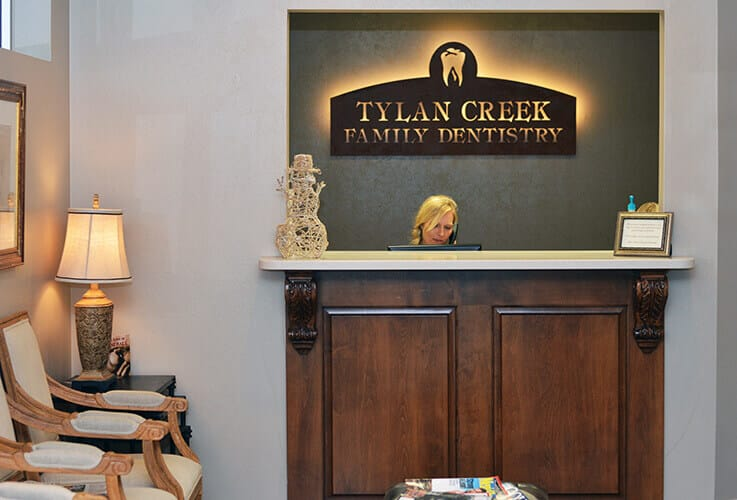 Simpsonville south Carolina dental office reception desk